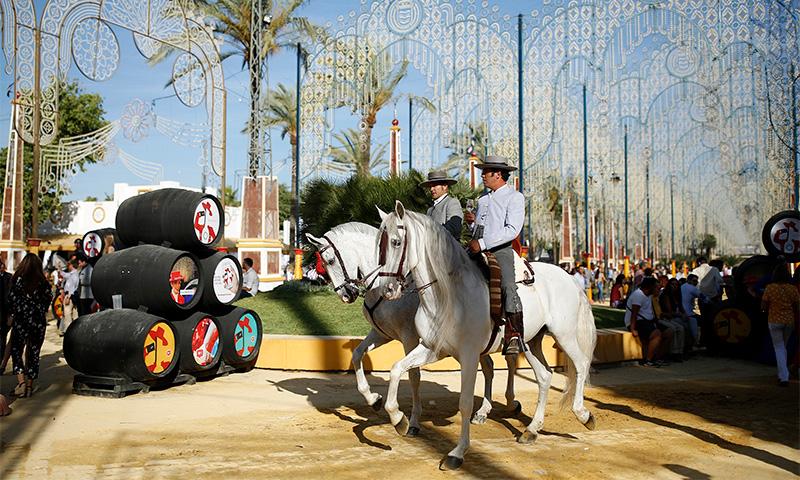 ярмарка лошадей в хересе