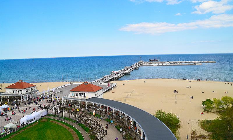 пляж и пирс Сопота