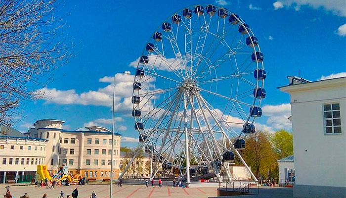 Центральный парк и колесо обозрения «Небо 33»