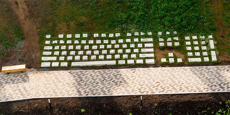 Памятник клавиатуре