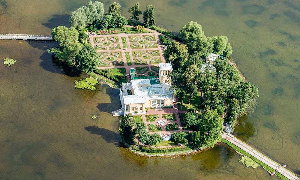 Искусственные острова на Ольгином пруду